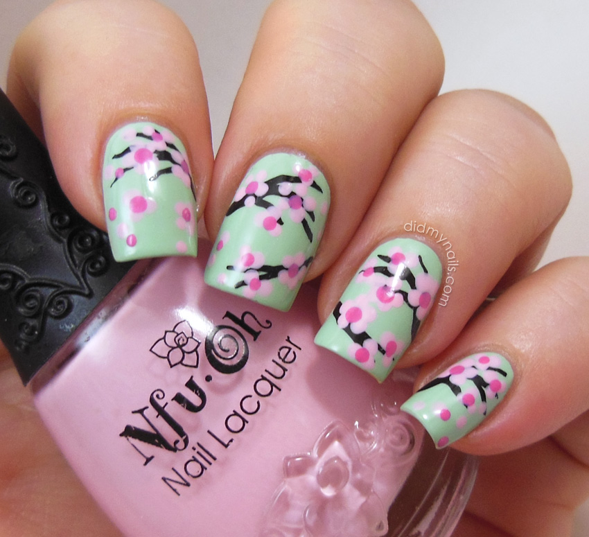 15 Cherry Blossom Flower Nail Designs Images