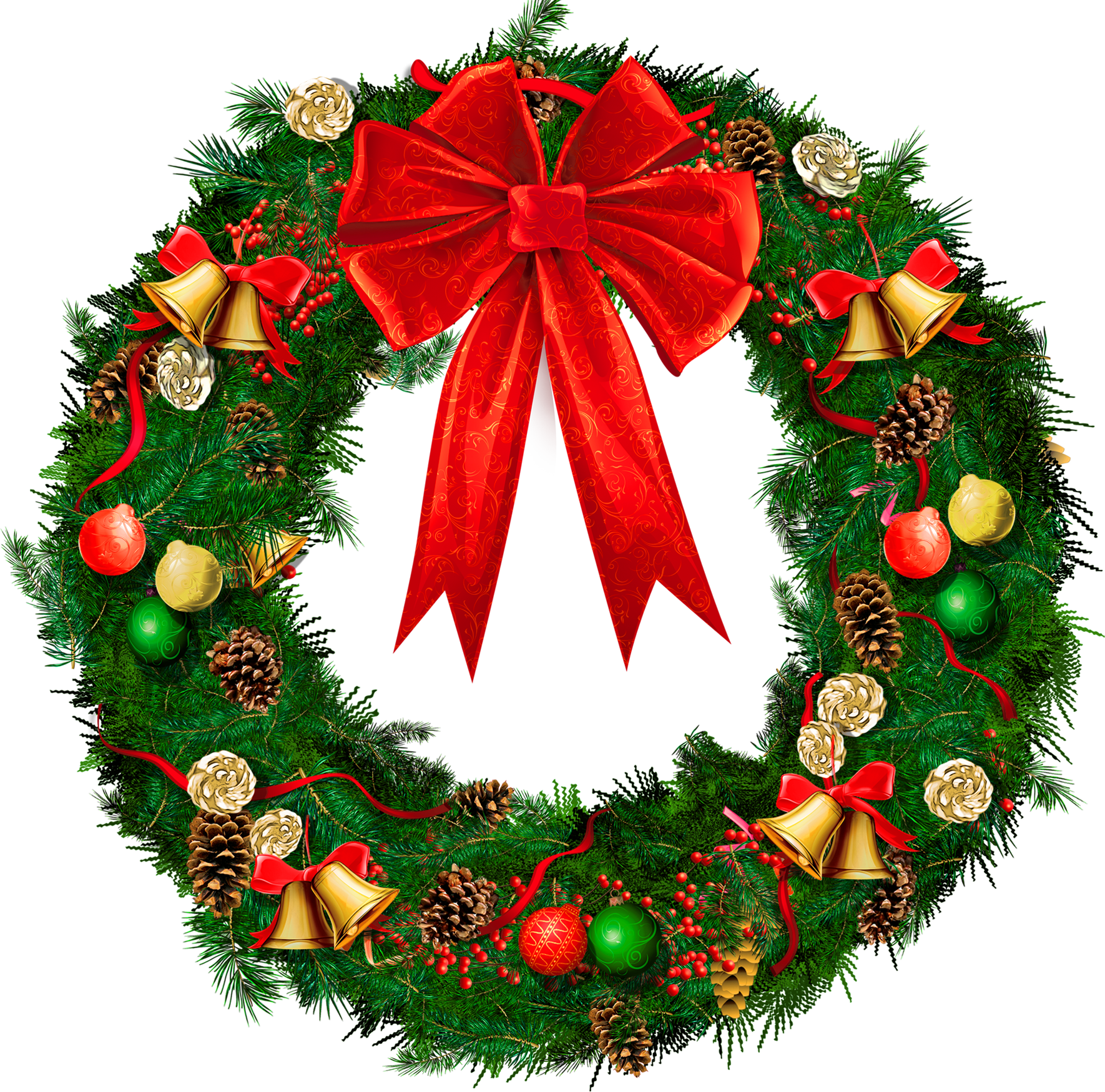 17 Christmas Wreath Graphics Images