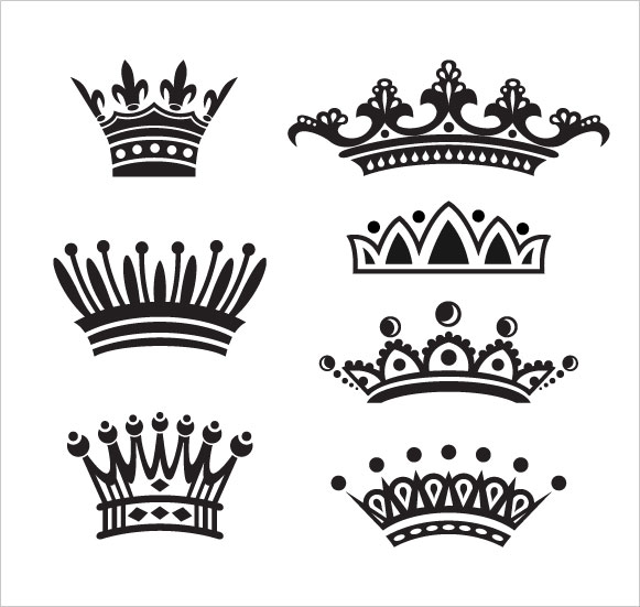 16 Princess Crown Vector PSD Images