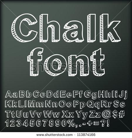 13 Chalk Font Vector Alphabet Images