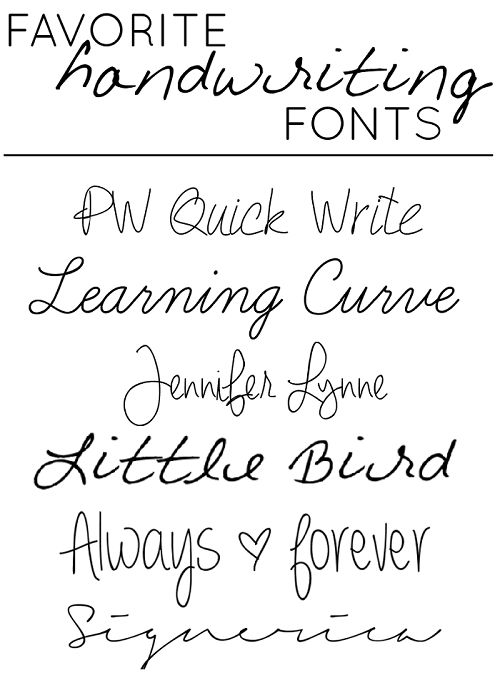 Cool Handwriting Styles Fonts