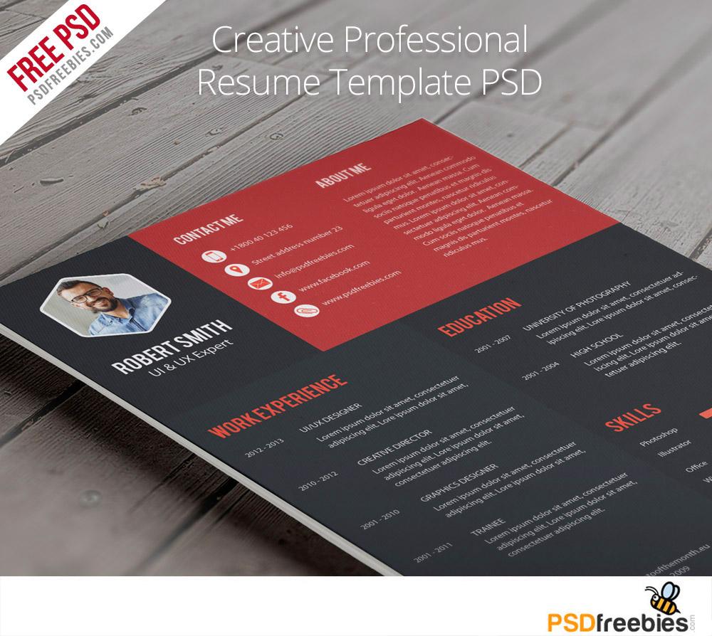 Creative Professional Resume Templates Free