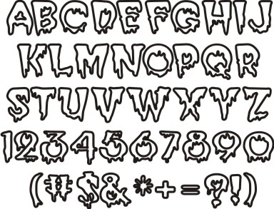 12 Name Of Halloween Fonts Images - Free Halloween Fonts