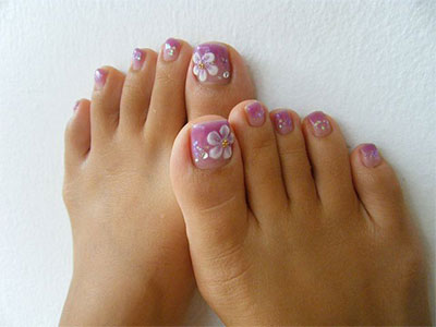 Cute Gel Toe Nail Designs
