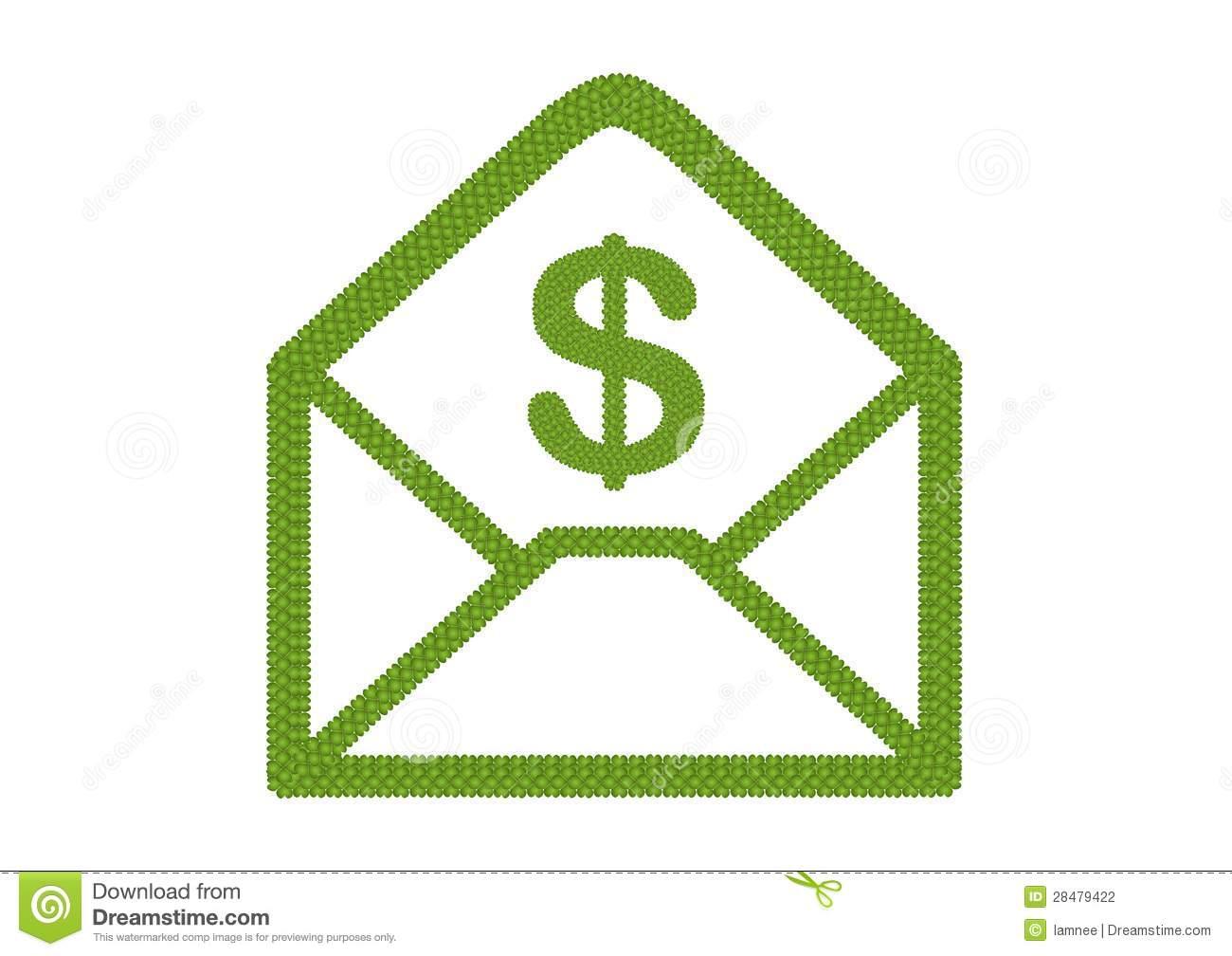 Dollar Sign Envelope Icon