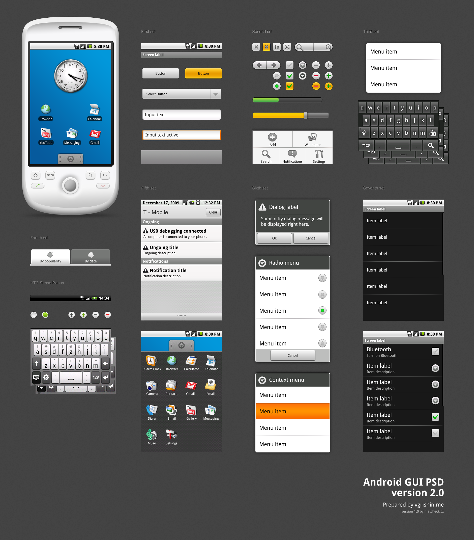 12 Android GUI PSD Images