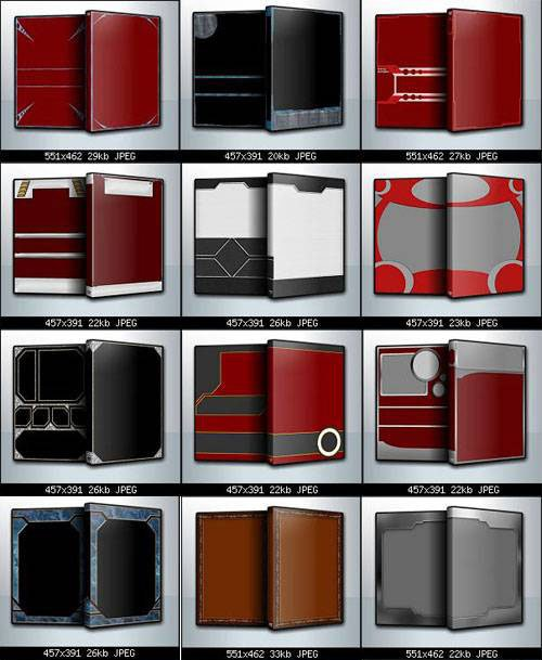 15 Sleeve Template PSD Box Images