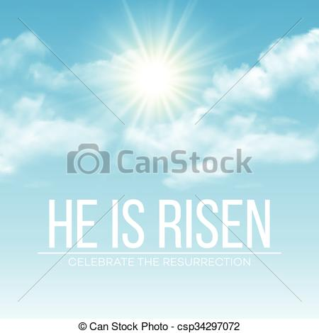 Easter He Is Risen Clip Art Free