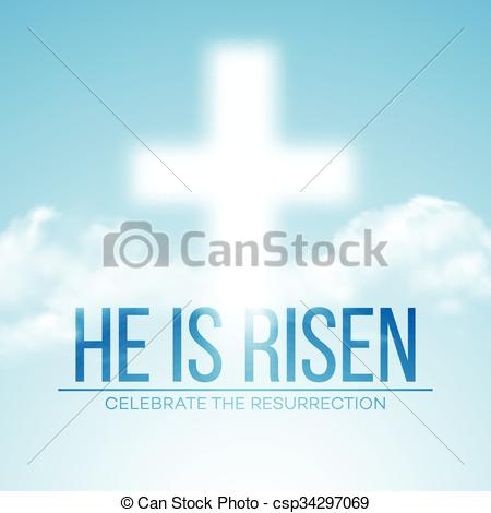 Easter He Is Risen Clip Art