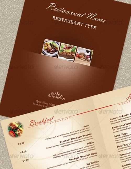 Elegant Restaurant Menu Template