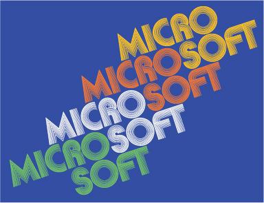 Font Retro Microsoft