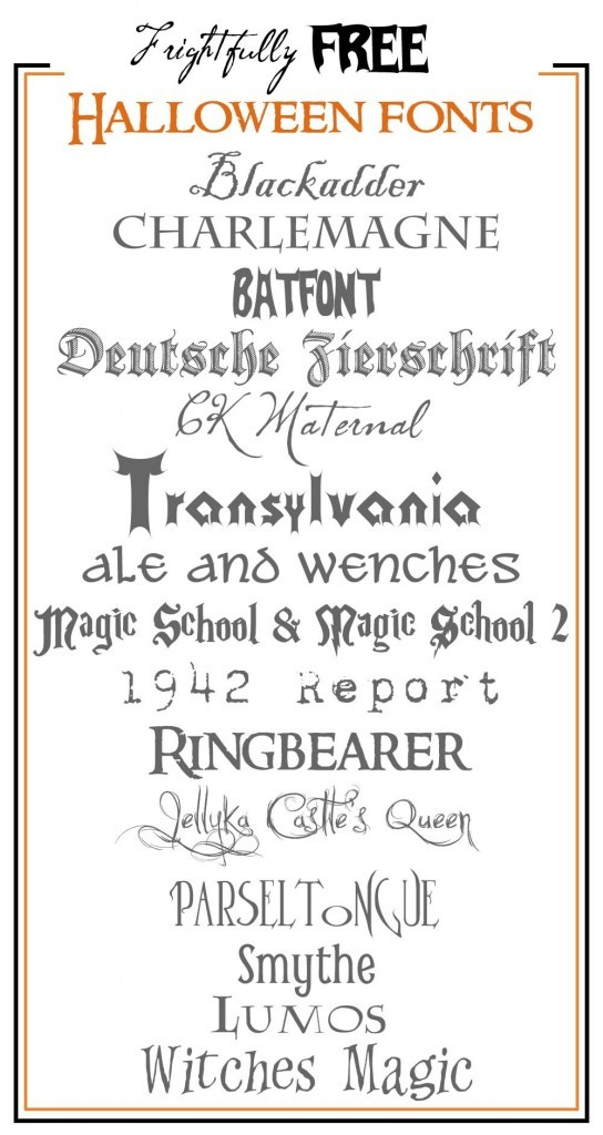 12 Name Of Halloween Fonts Images