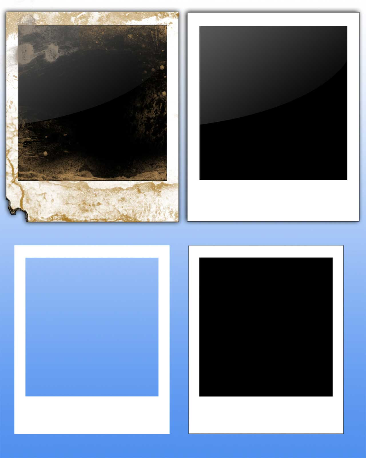 16 polaroid psd template images blank polaroid template for Picture frame templates for photoshop