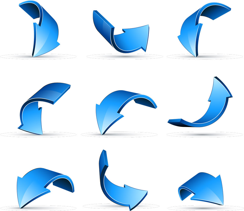 14 Blue Arrow Vector Graphics Images