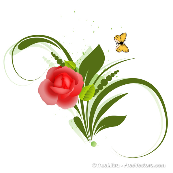 18 Vector Flower Images