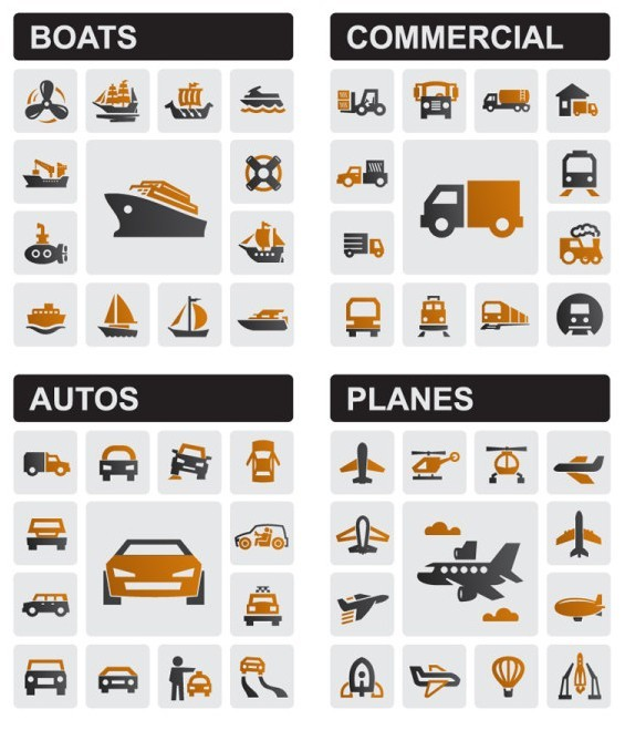 Free Vector Transportation Icons