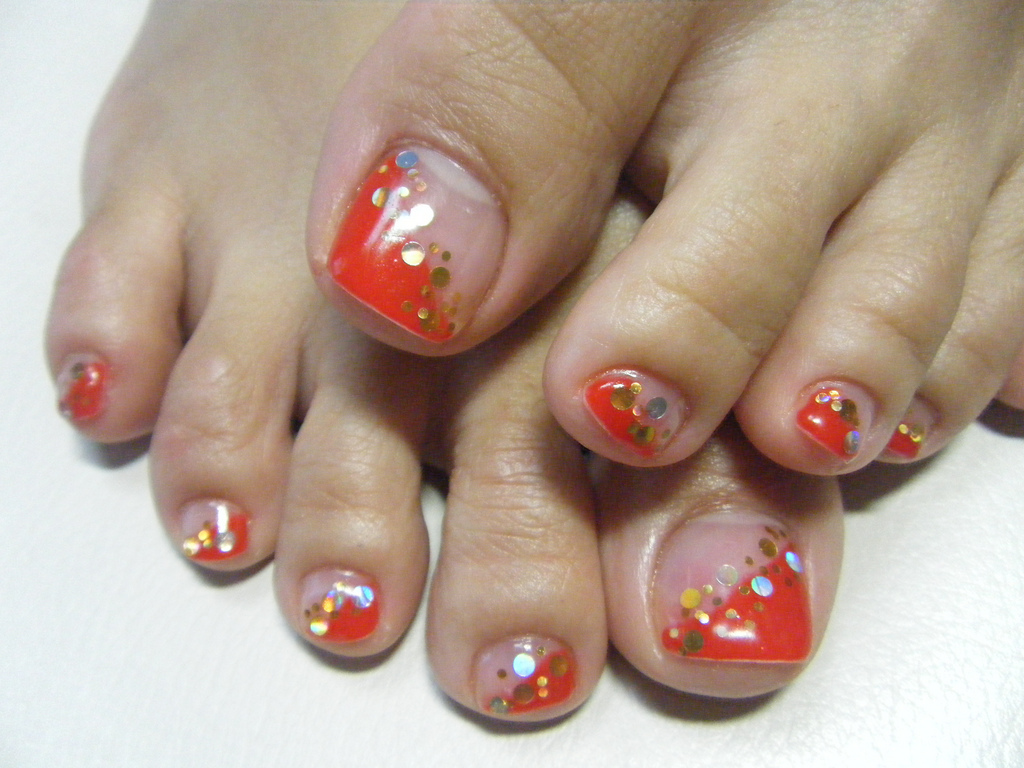 Gel Nail Pedicure Designs