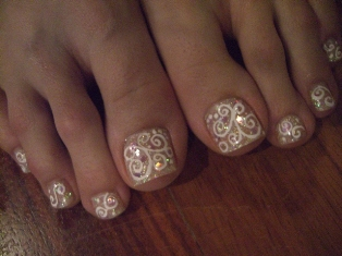 Gel Toe Nail Art