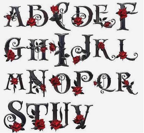 Gothic Graffiti Alphabet Letters A Z