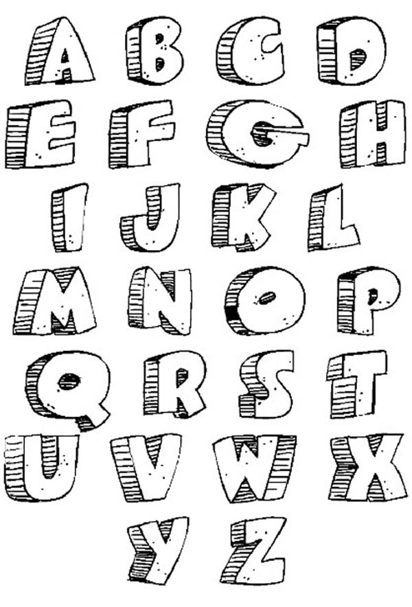 Graffiti Alphabet Bubble Letter Fonts