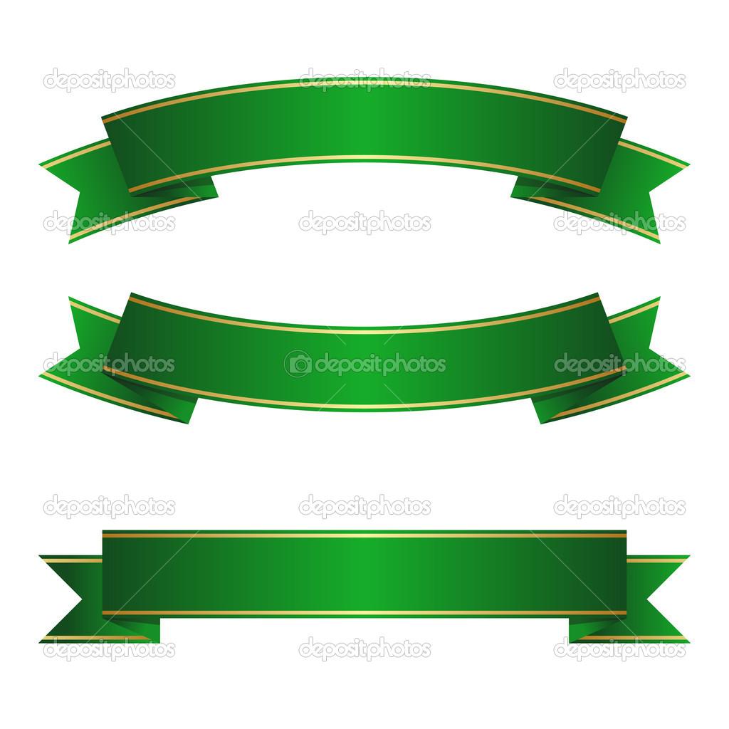 Green Ribbon Banner