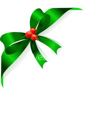 Green Ribbon Bow Clip Art