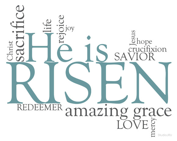 He Is Risen Christian Easter Clip Art Free