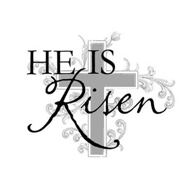 He Is Risen Clip Art Black and White