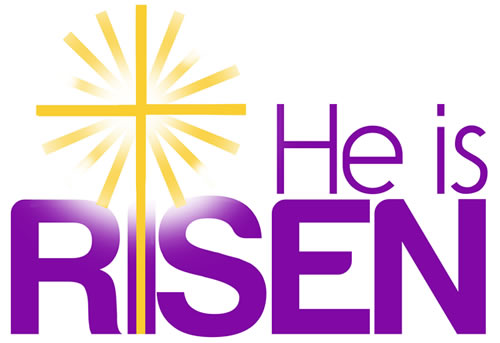 He Is Risen Easter Sunday Clip Art