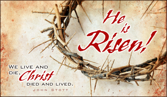 He Is Risen Happy Easter Clip Art
