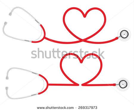 Heart Stethoscope Vector Art