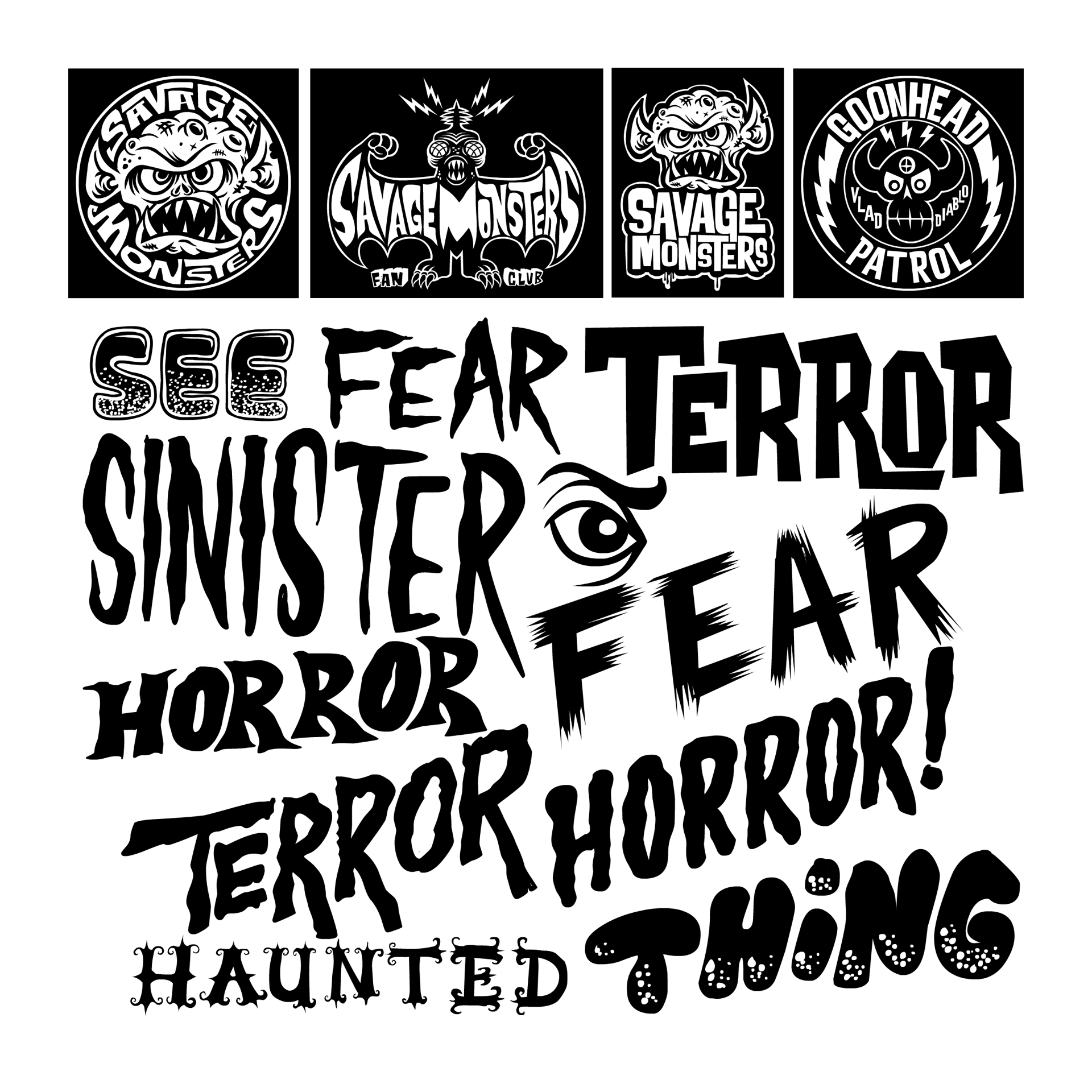 13 Vintage Horror Fonts Images