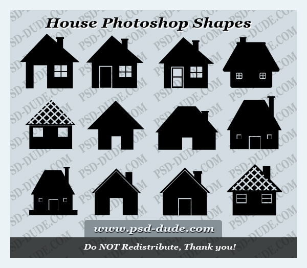 House Shape Photoshop Brush