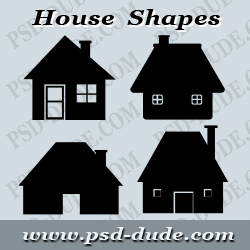 House Shapes Photoshop
