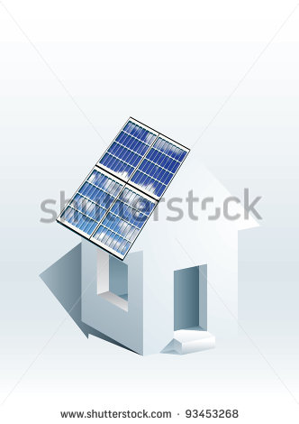 House with Solar Panel Icon