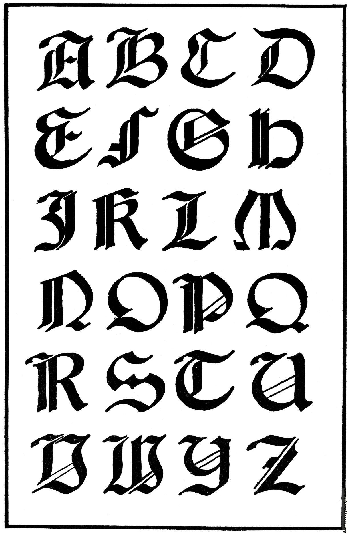 Italian Gothic Letters