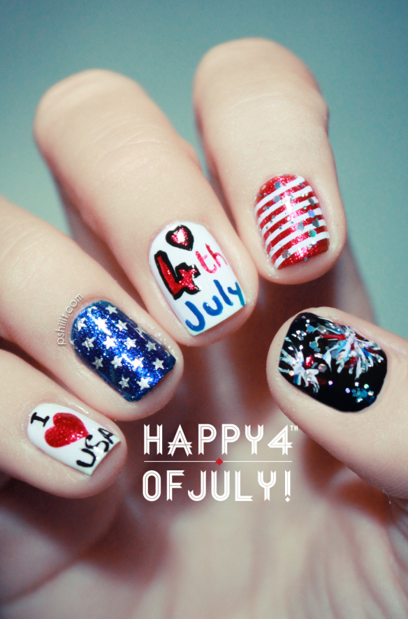 11 Cute Nail Designs For July Images