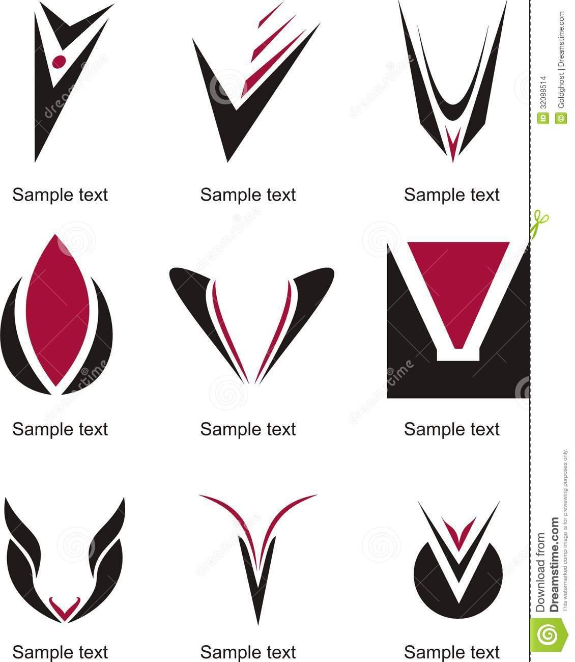 Letter V Logos Designs