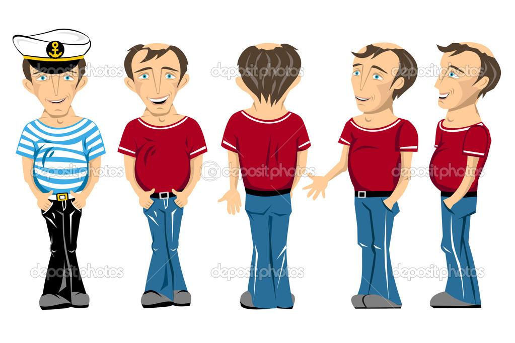 Man Cartoon Character