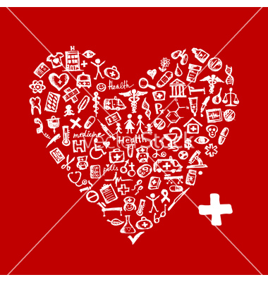 Medical Heart Shaped Graphics