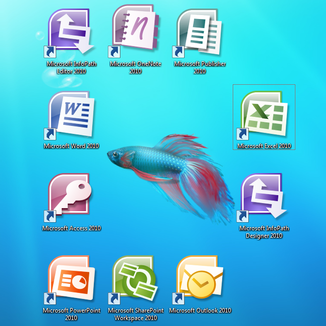 16 Office 2010 Icons Windows 7 Images