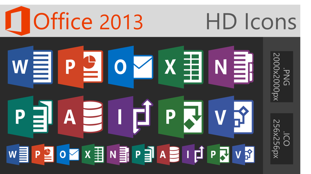 12 Office 2013 Icons Images
