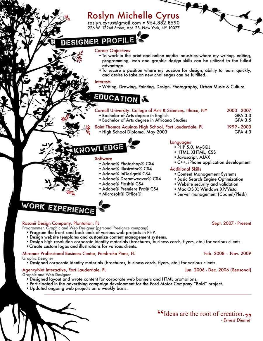 10 Creative Graphic Design Resume Images Creative Graphic Design