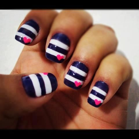 11 Pink White And Blue Nail Designs Images - Pink Purple and Blue ...