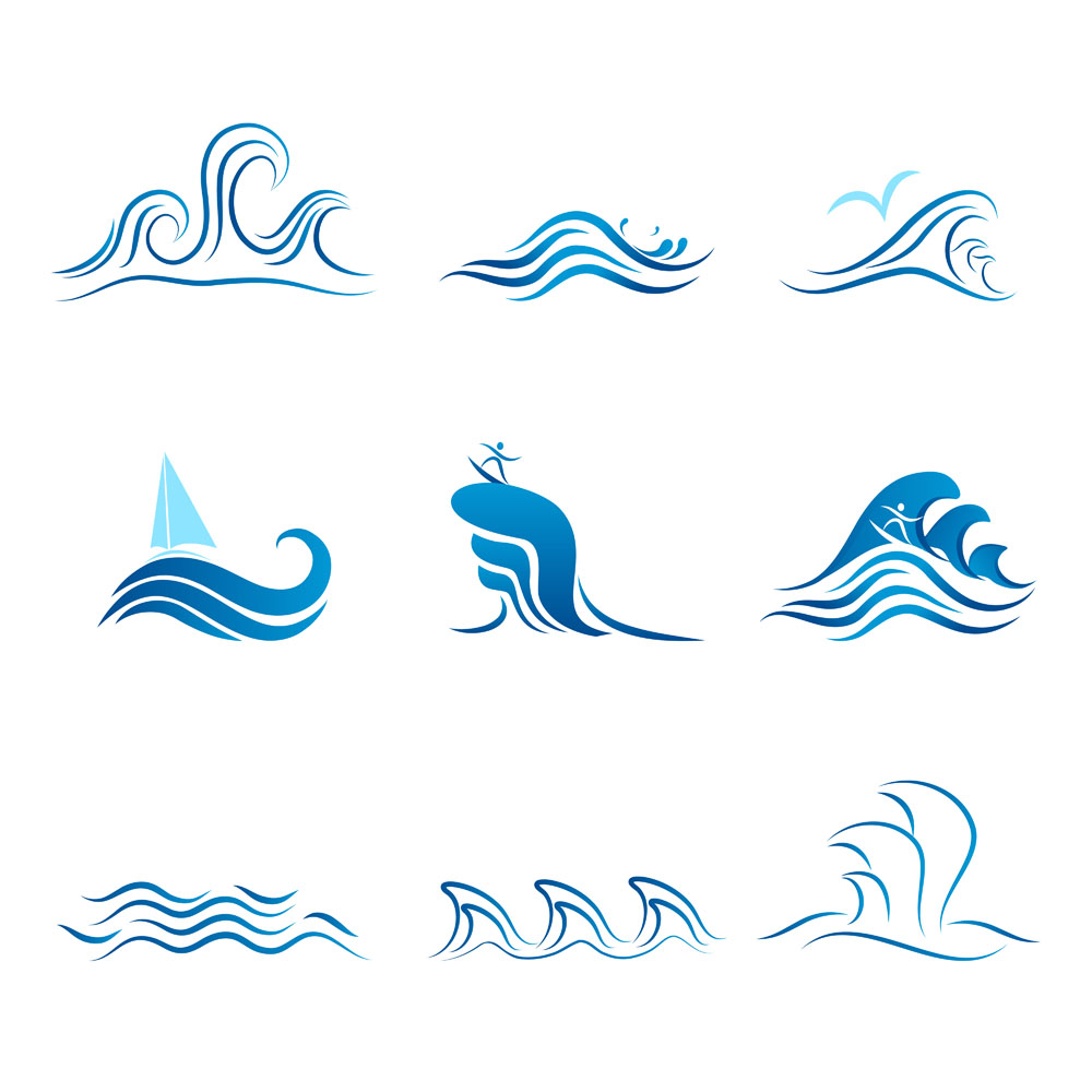 12 Free Vector Graphics Waves Images