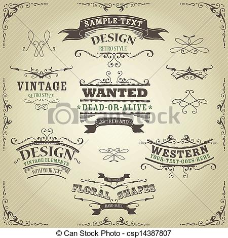 Old Western Banner Clip Art Free