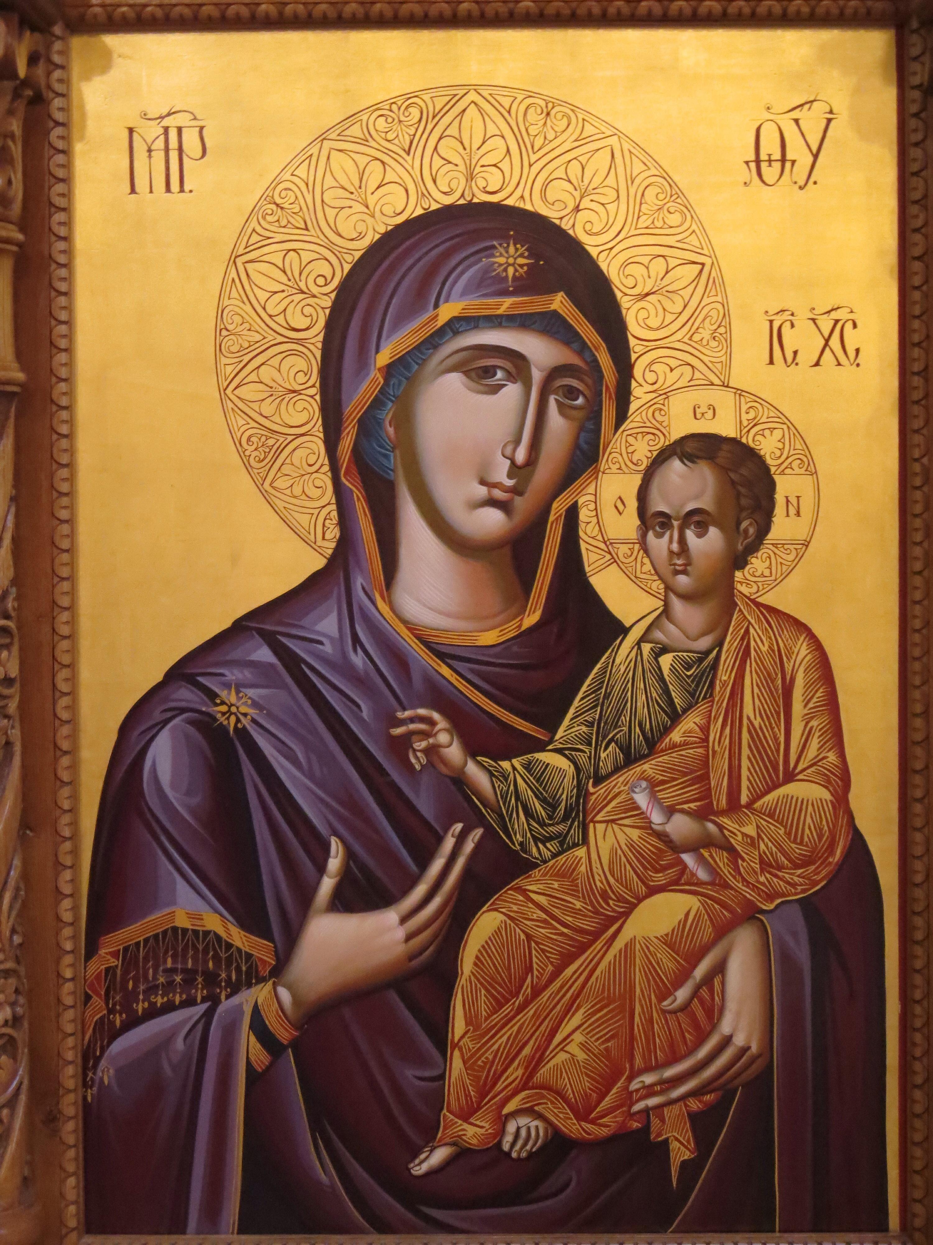 Orthodox Icon Mary and Jesus