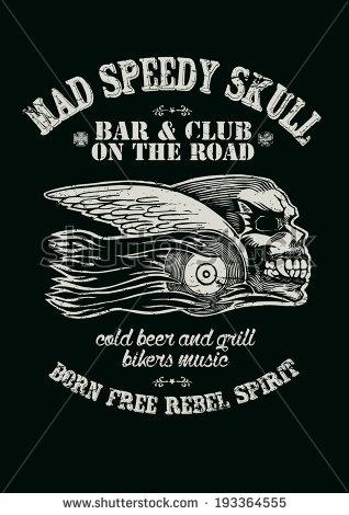 Outlaw Biker Skull Design