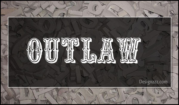 Outlaw Font Tattoo Designs