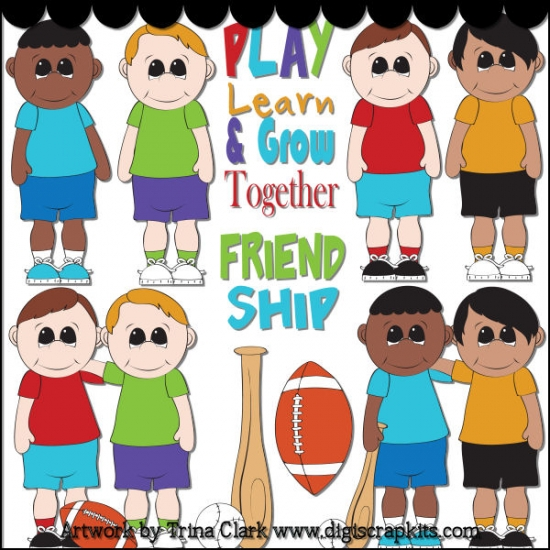 Play Learn and Grow Together Clip Art